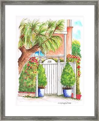 White Door In - West Hollywood - California Framed Print by Carlos G Groppa