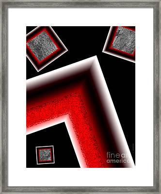 White Edges Geometric Art Framed Print by Mario Perez