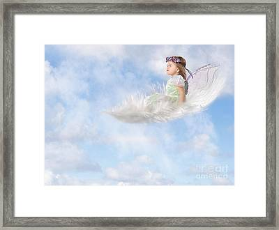 White Feather Dream Framed Print by Cindy Singleton