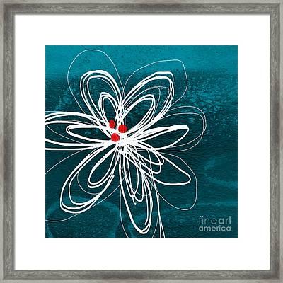 White Flower Framed Print by Linda Woods