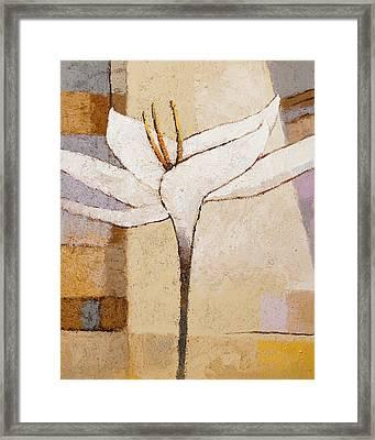 White Flower Painting Framed Print by Lutz Baar