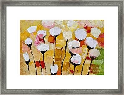 White Flowers Framed Print by Lutz Baar
