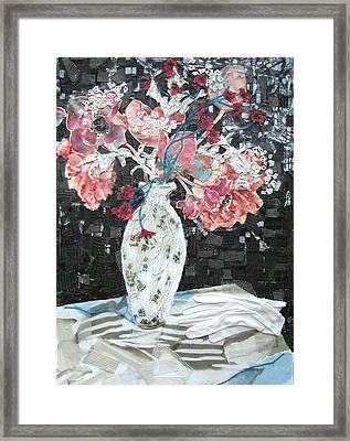 White Glove Framed Print by Diane Fine