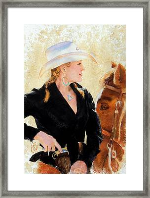 White Hat Framed Print by Debra Jones