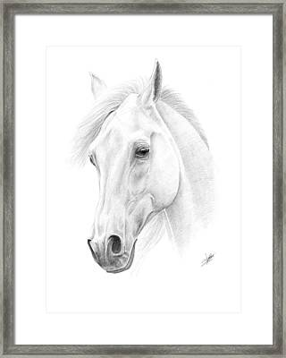 White Horse Framed Print by Christian Klute