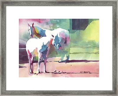 White Horses Framed Print by Kris Parins