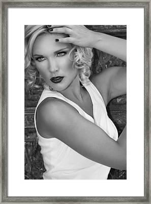 White Hot Bw Palm Springs Framed Print by William Dey
