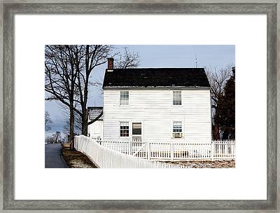 White House At Pleasanton Framed Print by John Rizzuto
