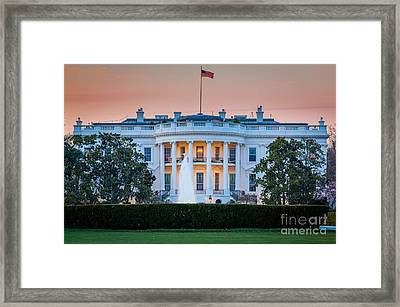 White House Framed Print by Inge Johnsson