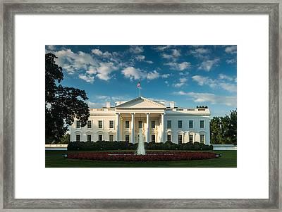 White House Sunrise Framed Print by Steve Gadomski