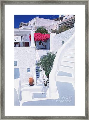 White Labyrinth Framed Print by Aiolos Greek Collections