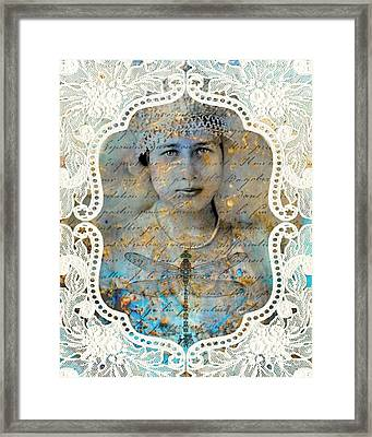 White Lace Framed Print by Judy Wood