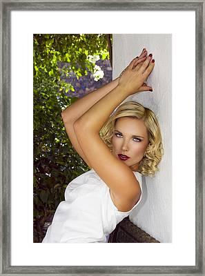 White Linen Palm Springs Framed Print by William Dey