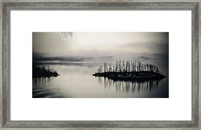 White Night Framed Print by Marianne Campolongo