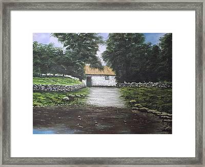 White O' Morn Cottage Framed Print by Robert Gary Chestnutt