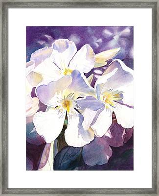 White Oleander Framed Print by Irina Sztukowski