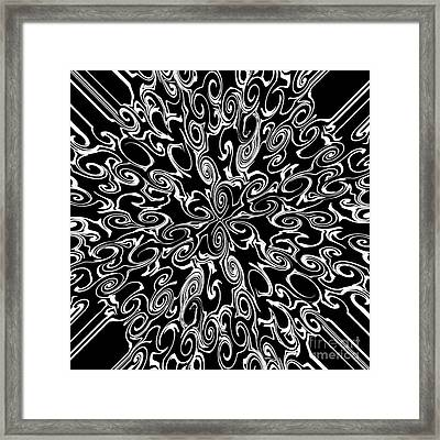 White On Black Framed Print by Lorraine Heath
