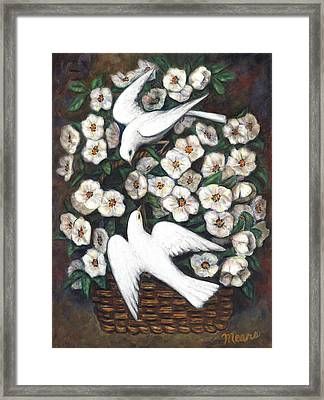 White On White Framed Print by Linda Mears