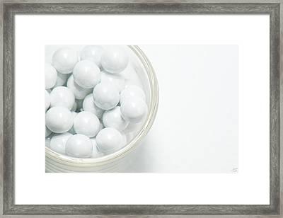 White On White Framed Print by Lisa Knechtel