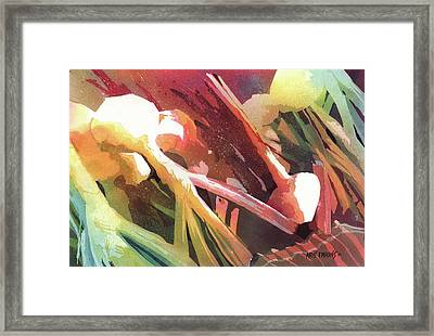White Onions Framed Print by Kris Parins