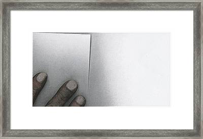 White Paper Dirty Fingers Framed Print by Bob RL Evans