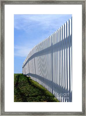 White Picket Fence Framed Print by Olivier Le Queinec
