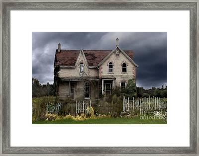 White Picket Fence Framed Print by Tom Straub