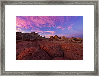 White Pocket Sunrise Framed Print by Dustin  LeFevre