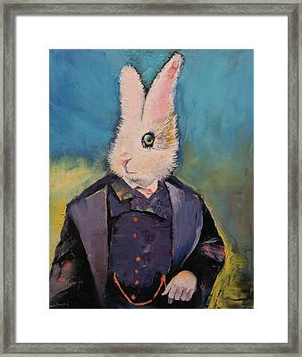 White Rabbit Framed Print by Michael Creese