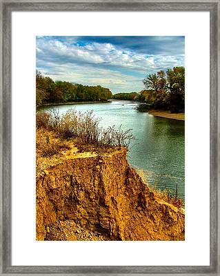 White River Erosion Framed Print by Julie Dant
