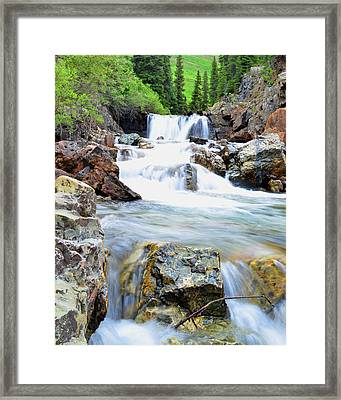 White River Framed Print by Mike Schmidt