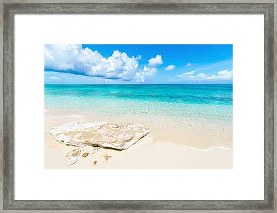 White Sand Framed Print by Chad Dutson