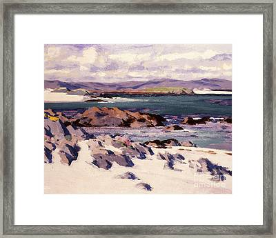 White Sands   Iona  Framed Print by Francis Campbell Boileau Cadell