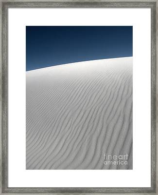 White Sands New Mexico Dune Abstraction Framed Print by Gregory Dyer