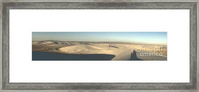 White Sands New Mexico Panorama Framed Print by Gregory Dyer