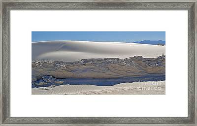 White Sands New Mexico Sand Dune Crumble Framed Print by Gregory Dyer