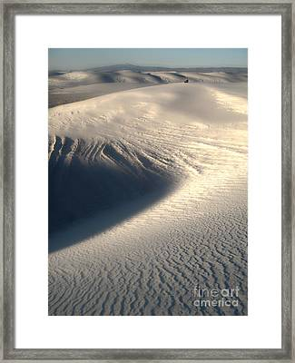 White Sands New Mexico Sand Dunes Framed Print by Gregory Dyer