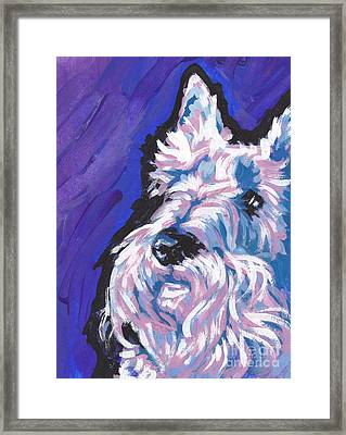 White Scot Framed Print by Lea S