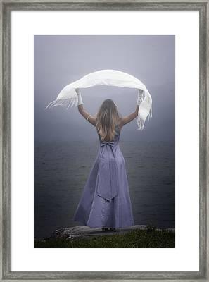 White Shawl Framed Print by Joana Kruse