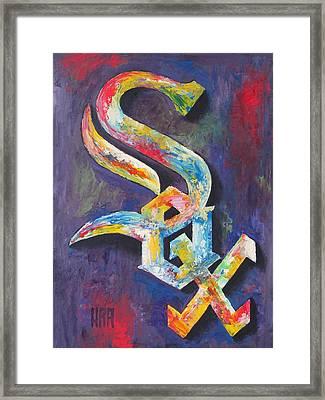 Chicago White Sox Baseball Framed Print by Dan Haraga