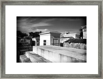 White Tombs Framed Print by John Rizzuto