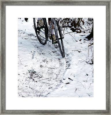 White Trail  Framed Print by Steven  Digman