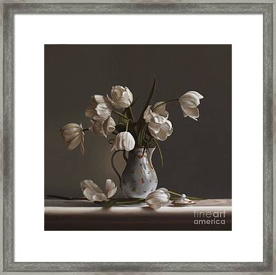 White Tulips Framed Print by Larry Preston