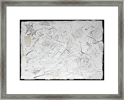 White Web Collage 6 Framed Print by Hari Thomas