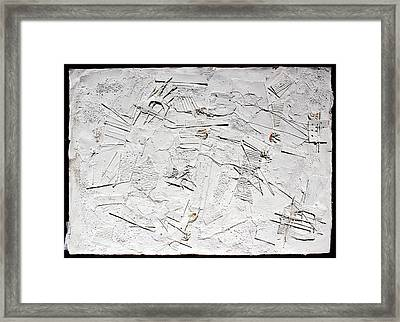 White Web Collage 7 Framed Print by Hari Thomas