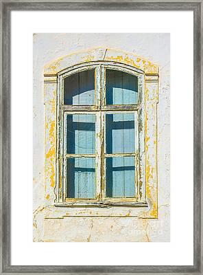 White Window Framed Print by Carlos Caetano