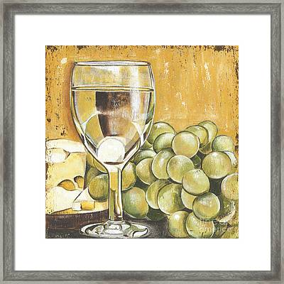 White Wine And Cheese Framed Print by Debbie DeWitt