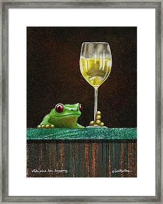 White Wine Bar Hopping... Framed Print by Will Bullas