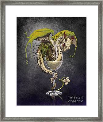 White Wine Dragon Framed Print by Stanley Morrison