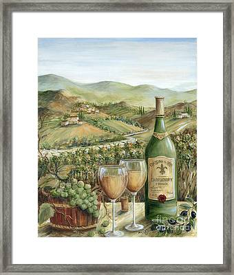 White Wine Lovers Framed Print by Marilyn Dunlap